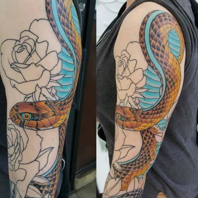 snake tattoo (2)