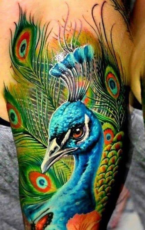 Amazingly Beautiful Peacock Tattoo
