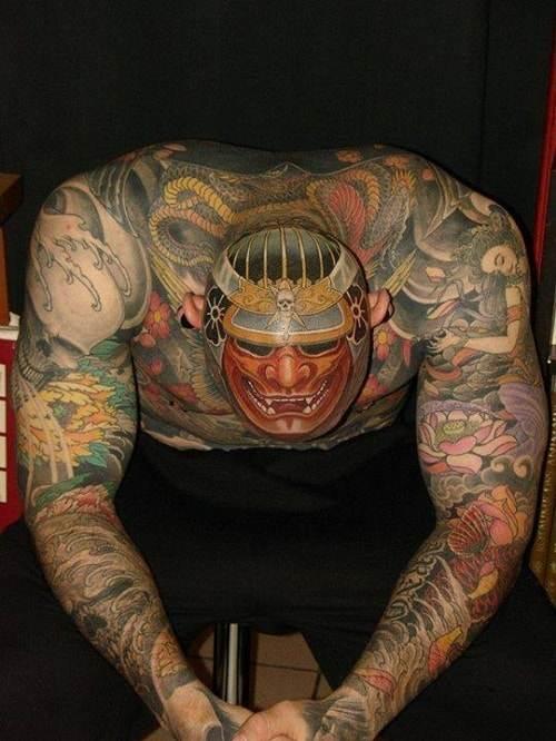 Samurai Tattoo on Scalp
