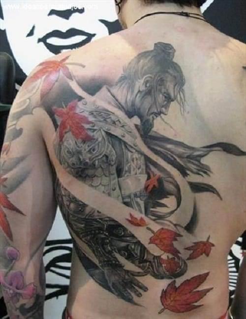 Samurai Tattoo on Back