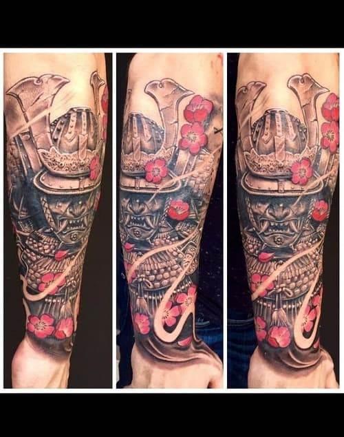 Samurai Tattoo on Arm