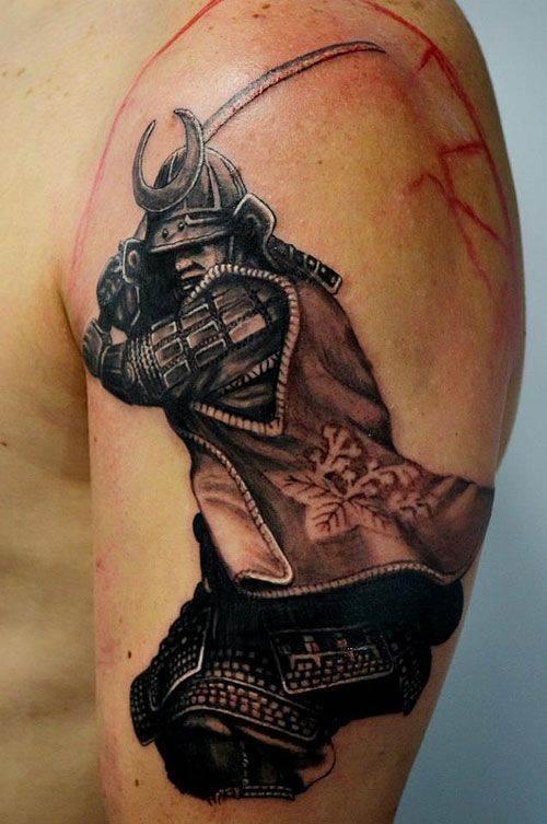 Samurai Ready for War Tattoo