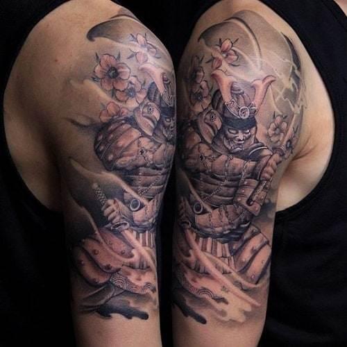 Japanese Half Sleeve Samuurai Tattoo
