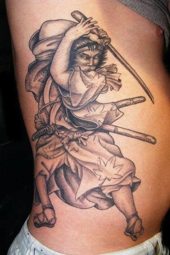samurai tattoos old fashioned