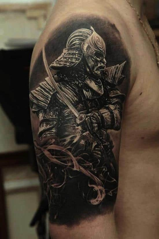samurai tattoos realistic