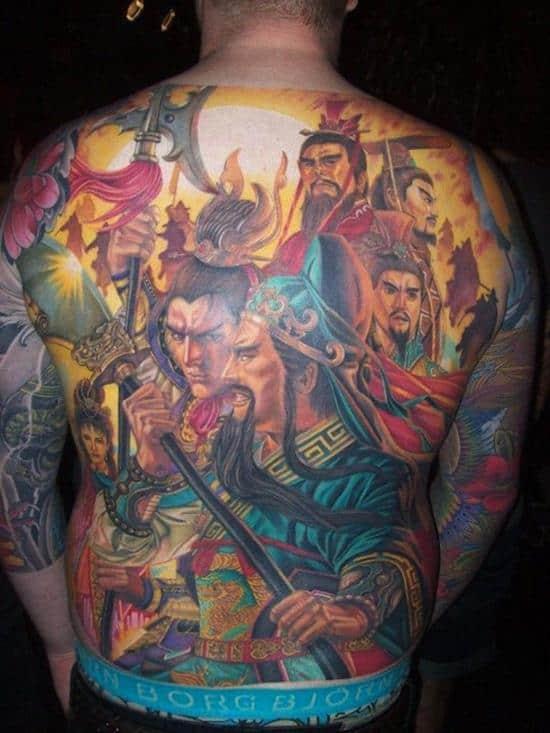 samurai men tattoos