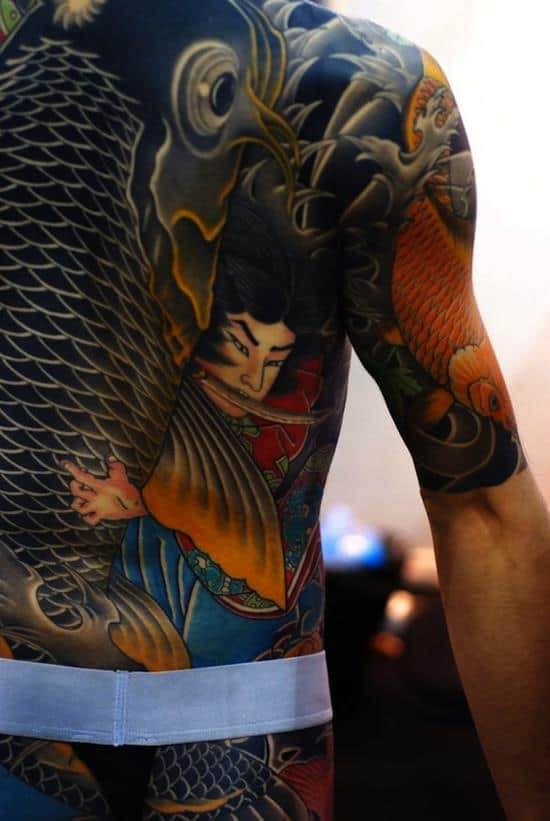 samurai tattoo koi