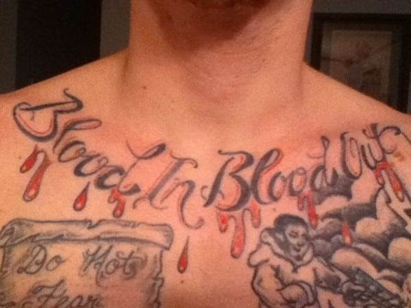 gang tattoo on chest