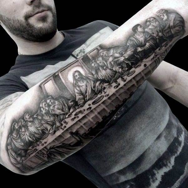 coolest-christian-tattoos-for-men-last-supper