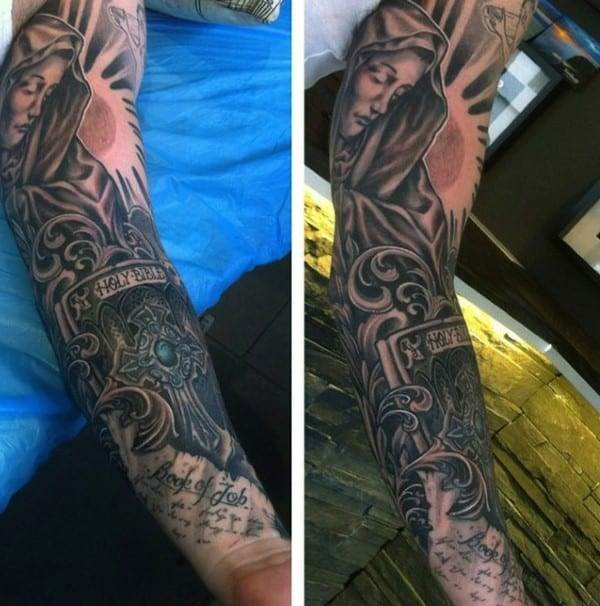 holy-bible-christian-sleeve-tattoo-for-men