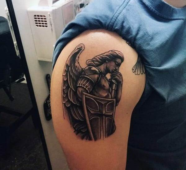 small-christian-tattoo-on-males-st-michael