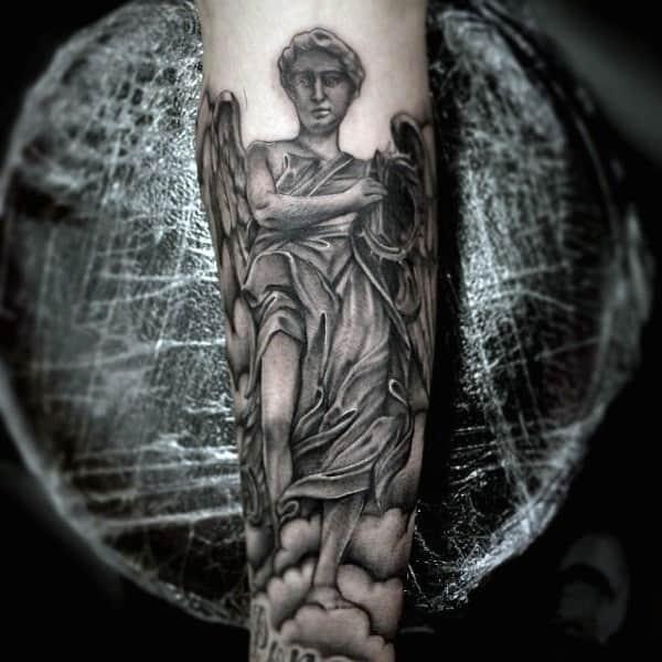 st-micheal-best-christian-tattoos-for-men-on-forearm