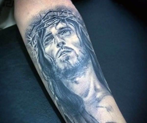 inner-forearm-jesus-christian-tattoos-for-guys
