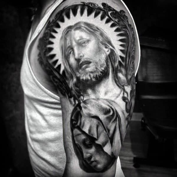 jesus-christian-shoulder-tattoos-for-males