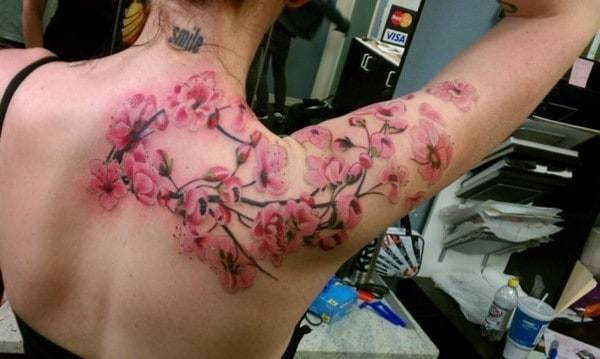 Cherry-blossom-arm-back-piece.-11-hour-session-at-Players-Ink-in-San-Jose-CA-with-Andre.-650x389