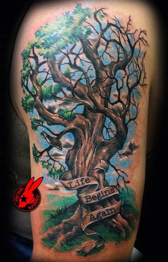 20-Insirational-Tree-Lettering-ArmTattoo