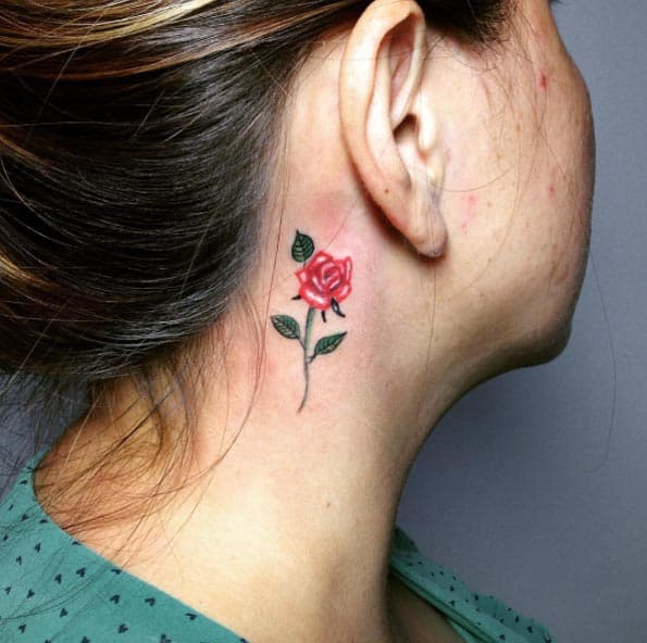 Tiny Rose Behind The Ear