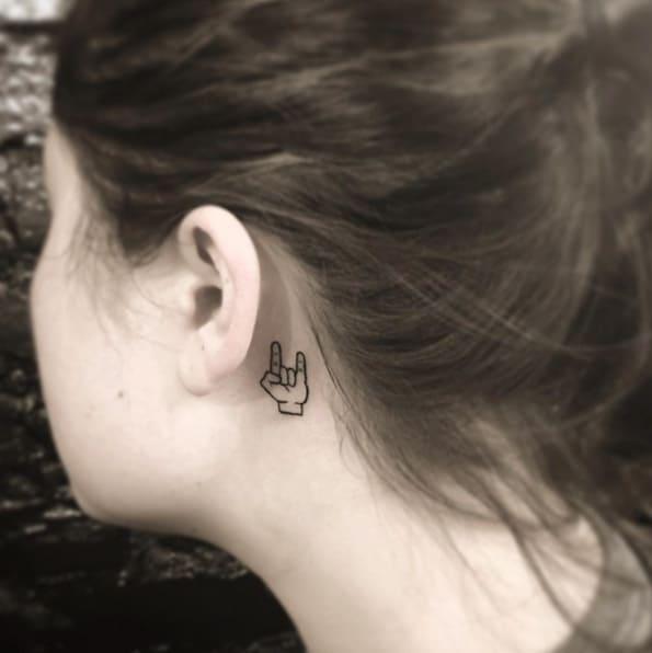 Horns Behind The Ear by OK