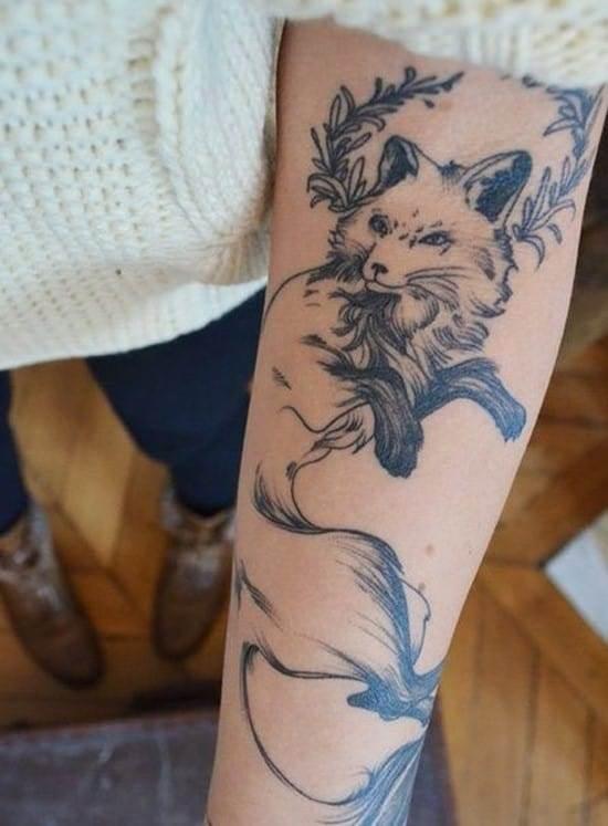 44-fox-arm-tattoo