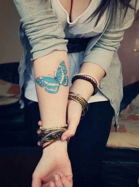 52-butterfly-arm-tattoo-for-girls