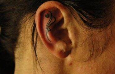 Sensuous Inner and Behind The Ear Tattoos