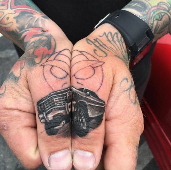 Lowrider Finger Tattoo by John Rock