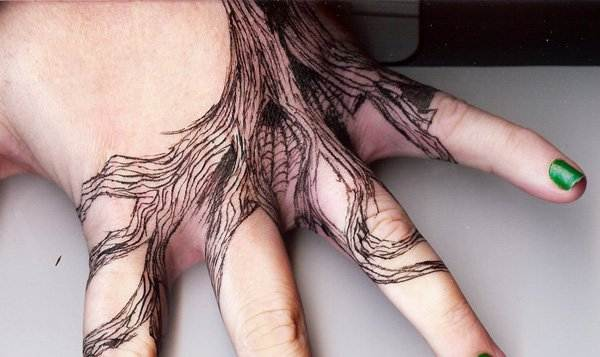 Tattoo Inspired Hand Tree