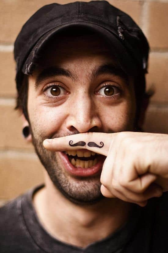 7-Finger-moustache-tattoo