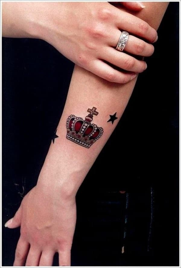 Crown-Star-Tattoo-for-Women