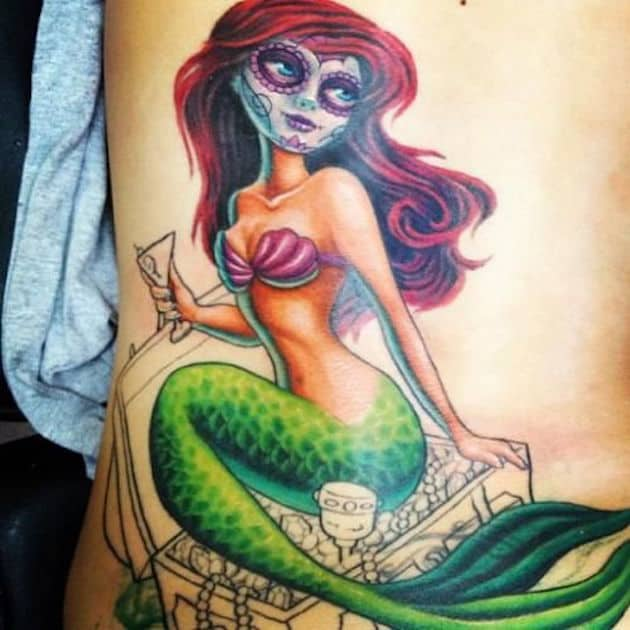 scary-little-mermaid-tattoos