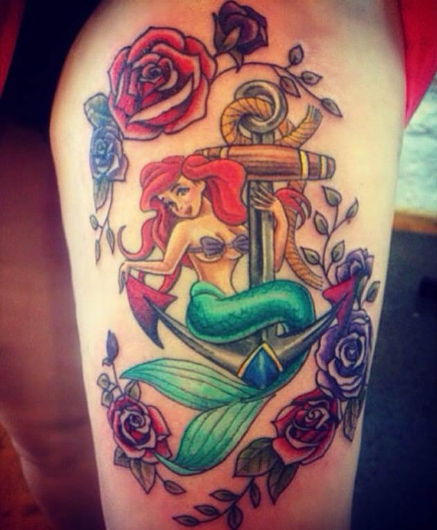 ariel-anchor-mermaid-tattoo
