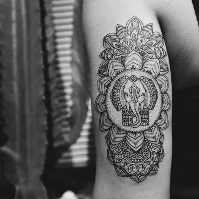elephant tattoo7