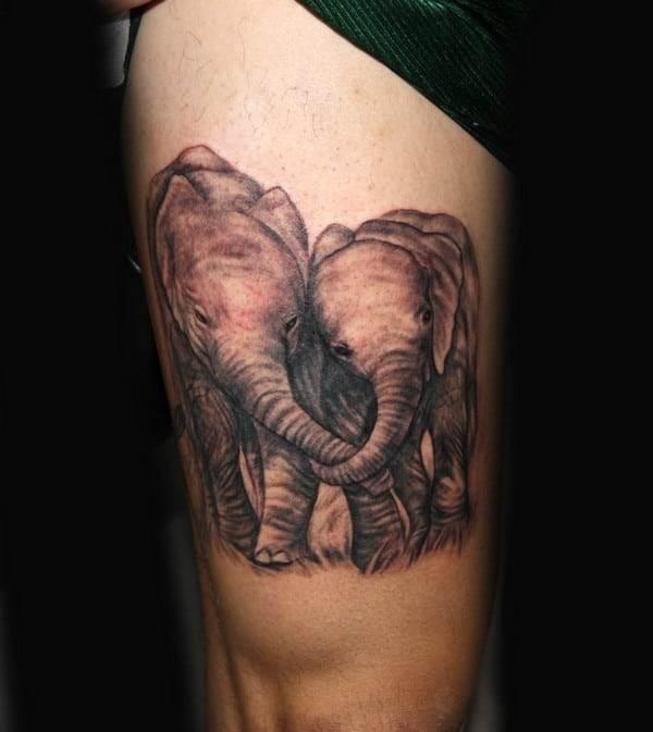 Back Elephant Tattoo