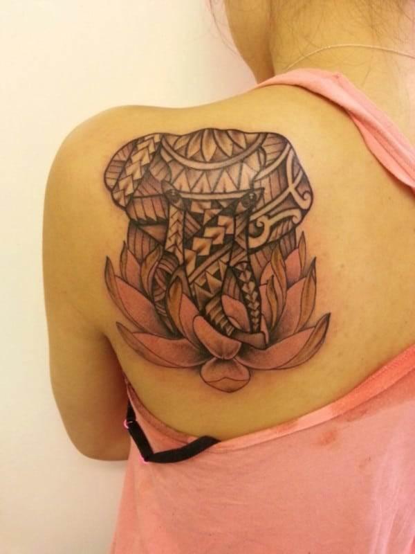 Elephant Tattoo For Ladies