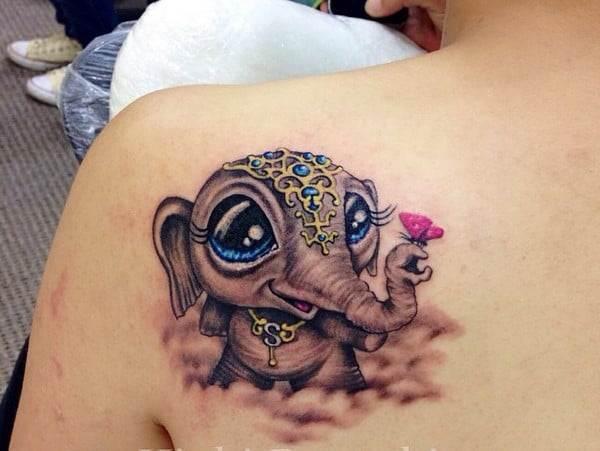 Elephant Tattoo Foot