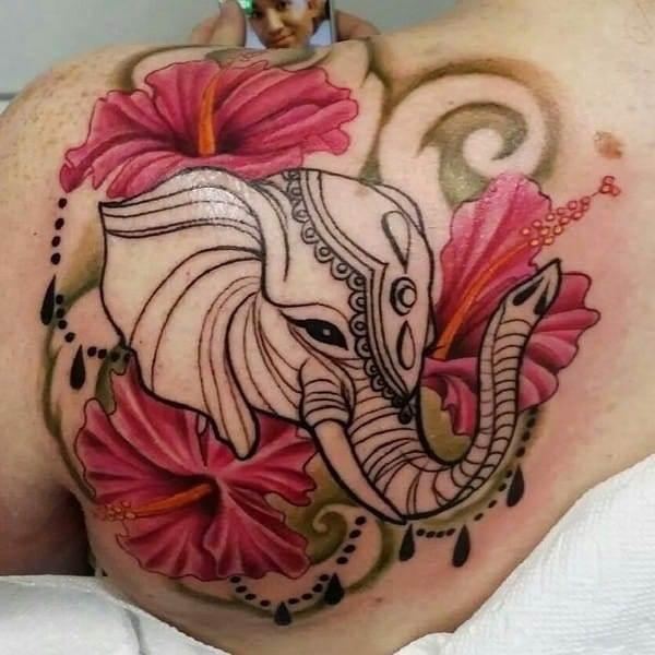 Awesome Elephant Tattoo