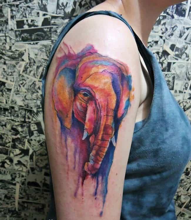 elephant tattoo23