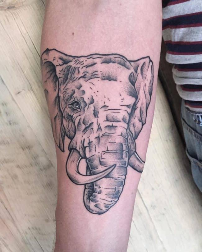 elephant tattoo71
