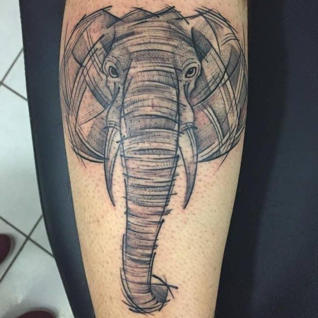 elephant tattoo72