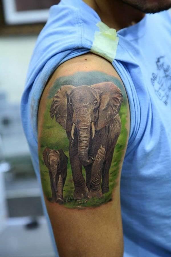 Cartoon Elephant Tattoos