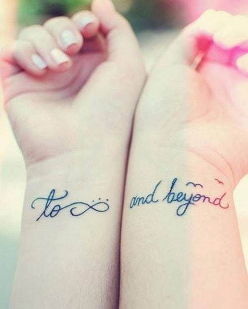 To Infinity and Beyond Quote Best Friend Tattoos
