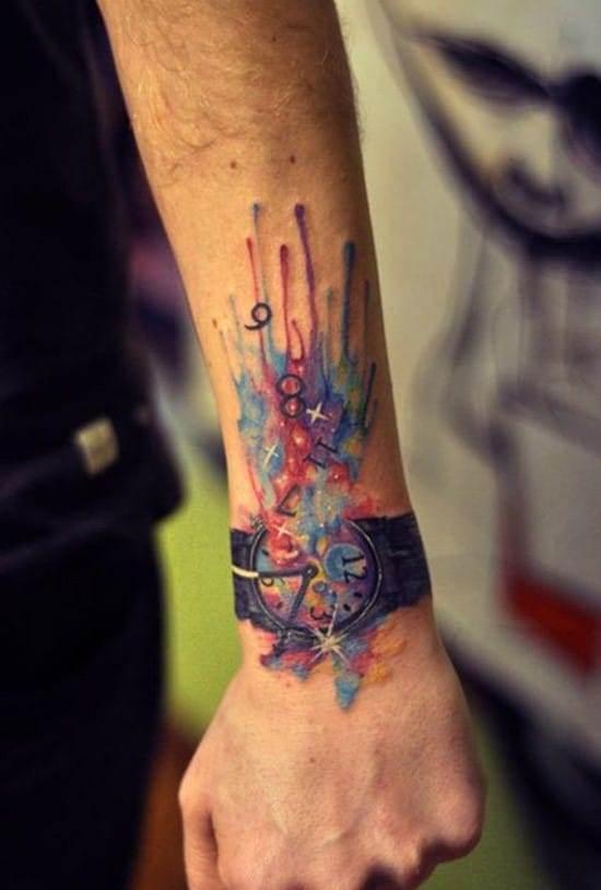 4-time-warp-watercolor-tattoo