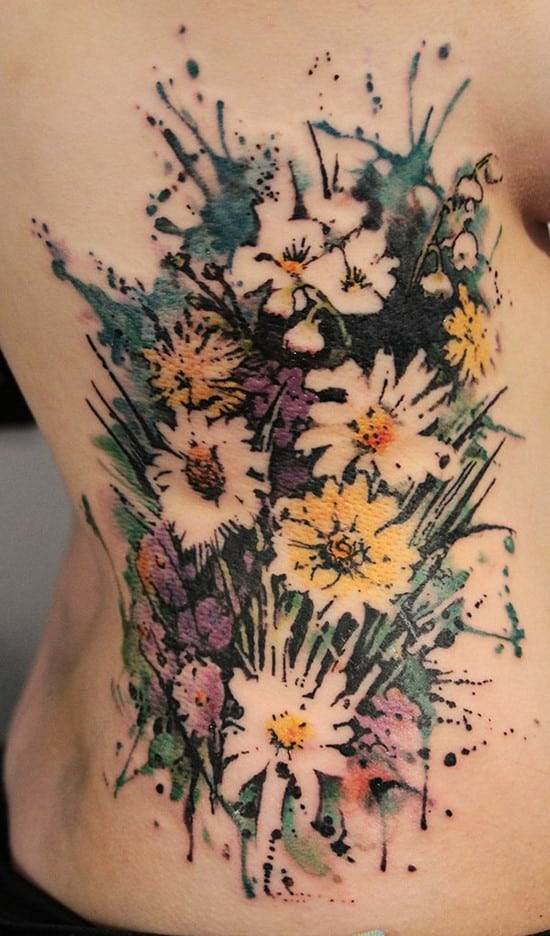 27-Flower-watercolor-tattoo