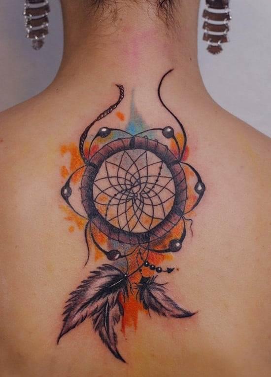 38-Dreamcatcher-watercolor-tattoo