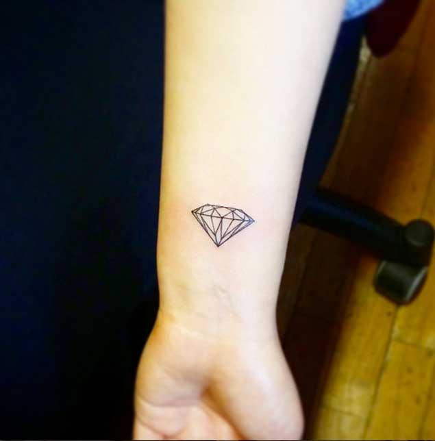 Small Diamond Tattoo