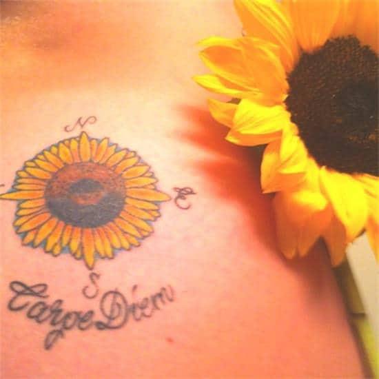 Carpe-Diem-Tattoos-24-Sunflower-