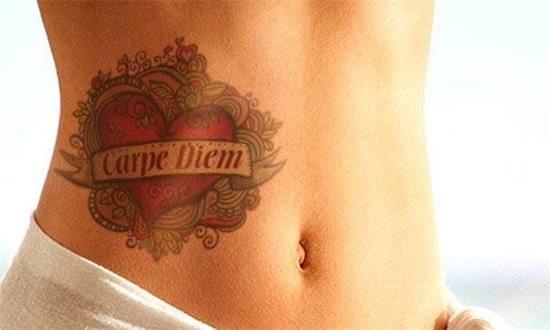 Carpe-Diem-Tattoos-33-Stomach-Tattoo