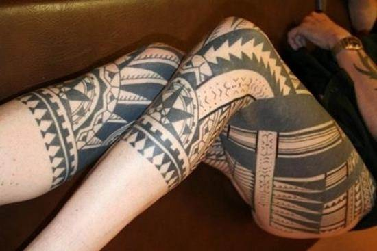 26-maori-tattoo-on-leg