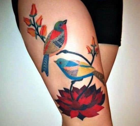 thigh-tattoo-birds