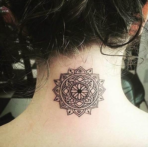 Back Neck Mandala Design